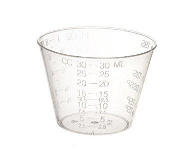 пластиковый мерный стакан
